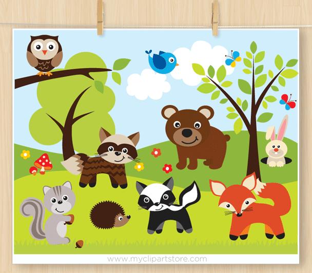 sherwood forest animals premium vector clipart by myclipartstore rh myclipartstore com jungle animals clipart free jungle animals clipart free