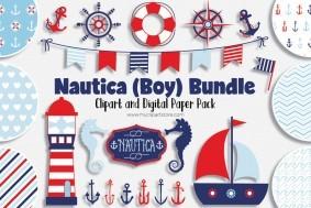 Nautica Boy, Sailing design bundle