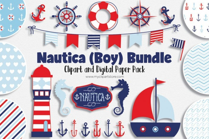 Nautica Boy, Sailing design bundle