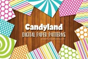 Candy Land Digital Pattern