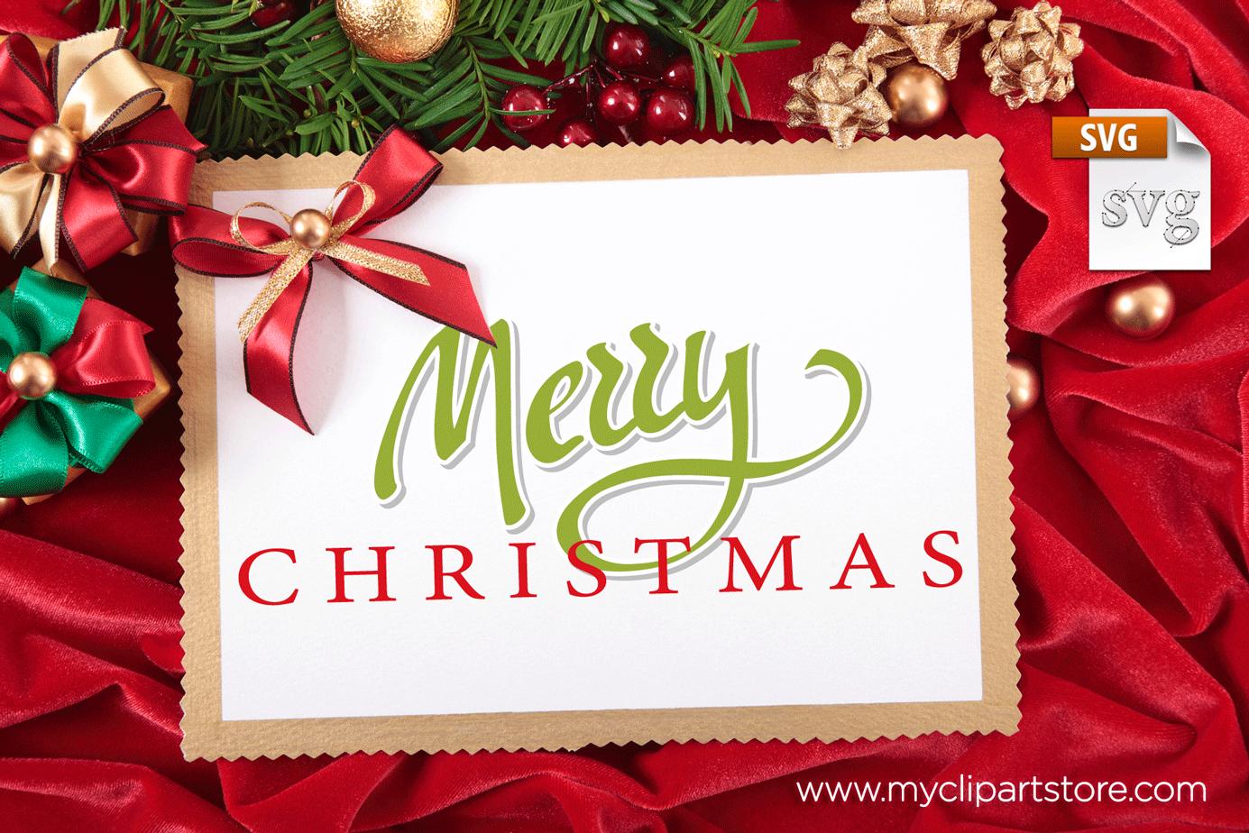 Word Art Christmas Premium Vector Clip Art Freebie From Myclipartstore