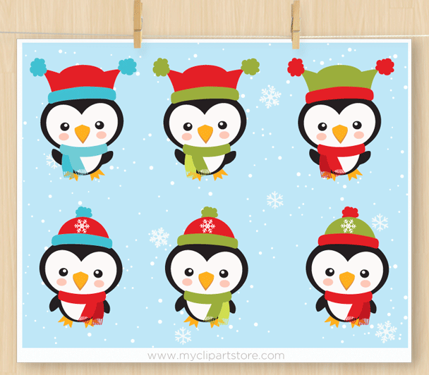 Little penguins premium vector scrapbook clip art by myclipartstore little penguins clipart voltagebd Choice Image