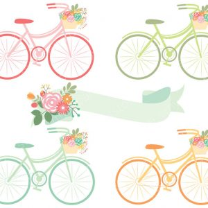 Springtime Bicycles Vector clipart